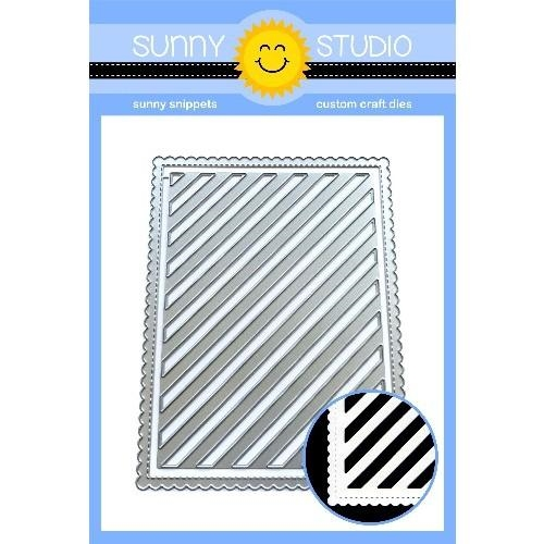 Sunny Studio FRILLY FRAMES STRIPES Dies SSDIE-135 zoom image