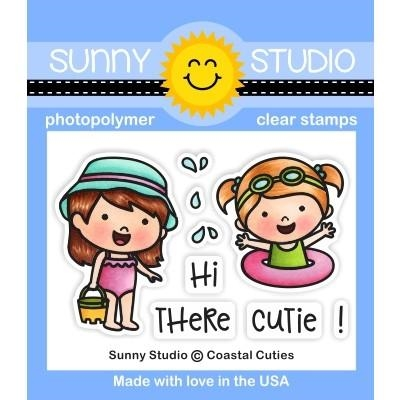 Sunny Studio COASTAL CUTIES Clear Stamps SSCL-228  zoom image