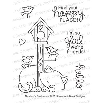 Newton's Nook Designs NEWTON'S BIRDHOUSE Clear Stamps NN1904S04