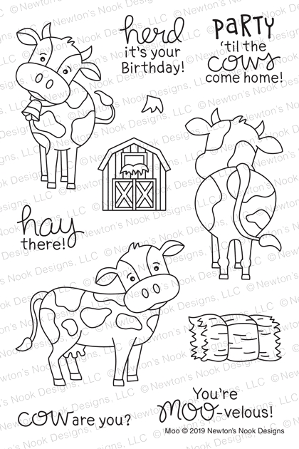Newton's Nook Designs MOO Clear Stamps NN1904S01 zoom image