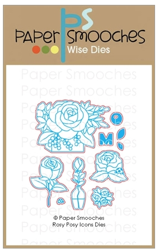 Paper Smooches ROSY POSY ICONS Wise Dies A1D435 zoom image