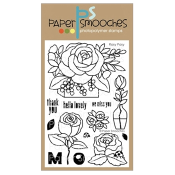 Paper Smooches ROSY POSY Clear Stamps A1S304*