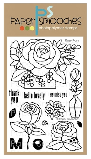 Paper Smooches ROSY POSY Clear Stamps A1S304 zoom image
