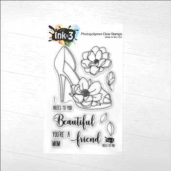 Inkon3 HEELS TO YOU Clear Stamps 04037