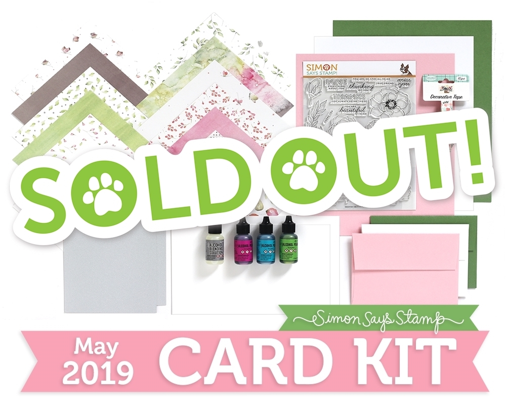 Simon Says Stamp Card Kit of The Month MAY 2019 DELICATE FLOWERS ck0519 zoom image