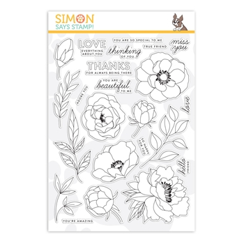 Simon Says Clear Stamps DELICATE FLOWERS sss201900