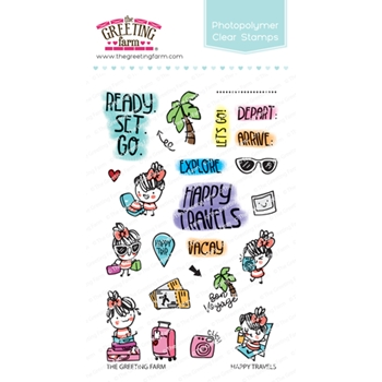 The Greeting Farm HAPPY TRAVELS Clear Stamps TGF474