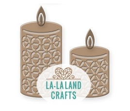 La-La Land Crafts TWO CANDLES Dies 8450
