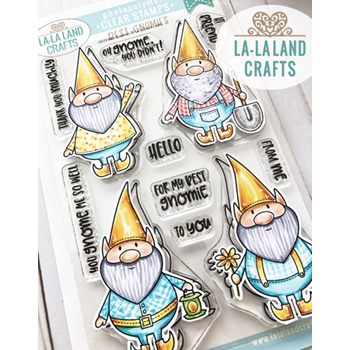 La-La Land Crafts Clear Stamps BEST GNOMIES Cl029