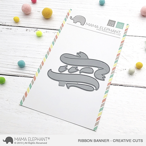 Mama Elephant RIBBON BANNER Creative Cuts Steel Dies Preview Image