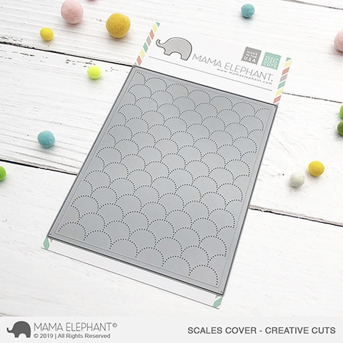 Mama Elephant SCALES Cover Creative Cuts Steel Dies Preview Image