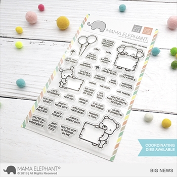 Mama Elephant Clear Stamps BIG NEWS