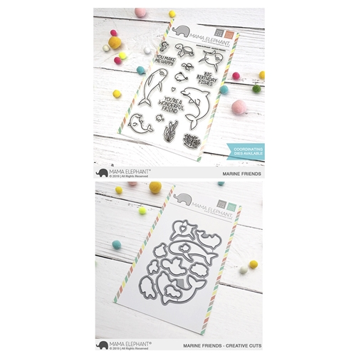 Mama Elephant Clear Stamp and Die mept622 Marine Friends SET Preview Image
