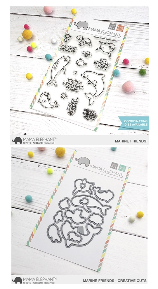 Mama Elephant Clear Stamp and Die mept622 Marine Friends SET zoom image
