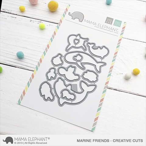 Mama Elephant MARINE FRIENDS Creative Cuts Steel Dies Preview Image