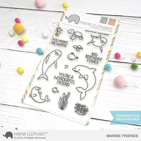 Mama Elephant Clear Stamps MARINE FRIENDS  zoom image