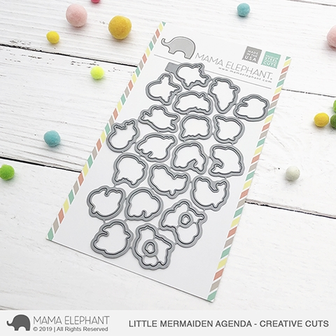 Mama Elephant LITTLE MERMAIDEN AGENDA Creative Cuts Steel Dies Preview Image
