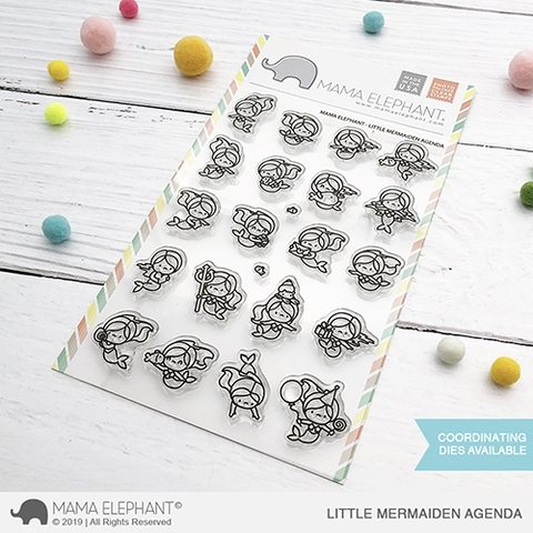 Mama Elephant Clear Stamps LITTLE MERMAIDEN AGENDA  Preview Image