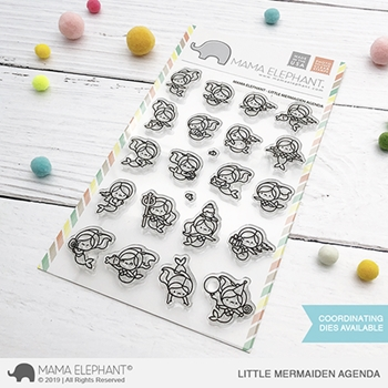 Mama Elephant Clear Stamps LITTLE MERMAIDEN AGENDA