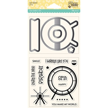 Jillibean Soup SPIN WHEEL Clear Stamp and Die Set jb2361