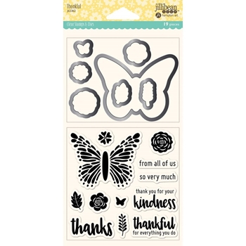 Jillibean Soup THANKFUL Clear Stamp and Die Set jb2362