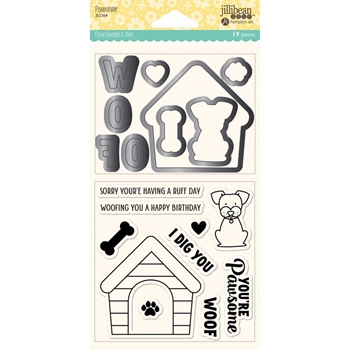 Jillibean Soup PAWSOME Clear Stamp and Die Set jb2364
