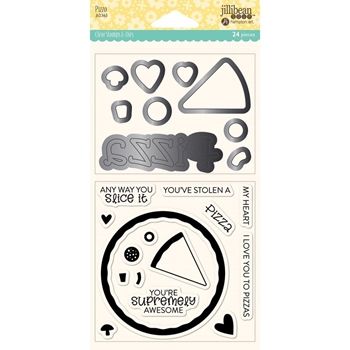 Jillibean Soup PIZZA Clear Stamp and Die Set jb2363