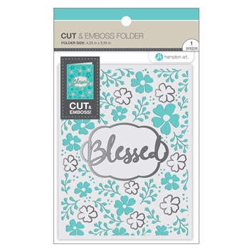 Hampton Art BLESSED Cut and Emboss Folder sc0910