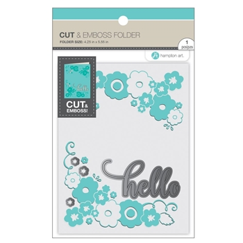 Hampton Art HELLO Cut and Emboss Folder sc0912
