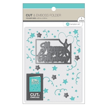 Hampton Art HAPPY BIRTHDAY Cut and Emboss Folder sc0913