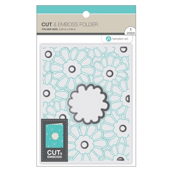 Hampton Art FLOWERS Cut and Emboss Folder sc0915