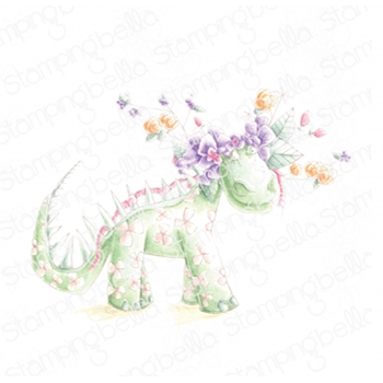 Stamping Bella Cling Stamp DANIELLE DONALDSON TUMBLEBLOSSOM THE DINOSAUR dd135