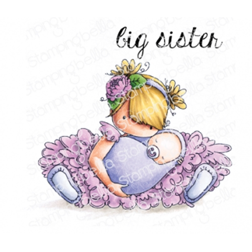 Stamping Bella Cling Stamp TINY TOWNIE BIG SISTER eb785 Preview Image