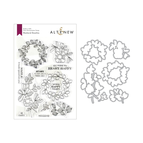 Altenew WEEKEND DOODLES Clear Stamp and Die Bundle ALT3220 Preview Image