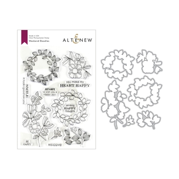 Altenew WEEKEND DOODLES Clear Stamp and Die Bundle ALT3220