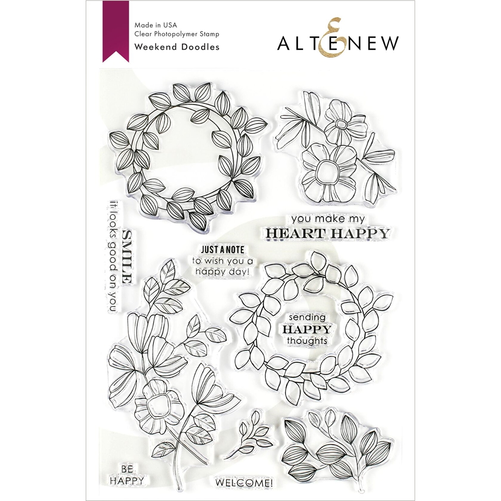 Altenew WEEKEND DOODLES Clear Stamps ALT3218 zoom image