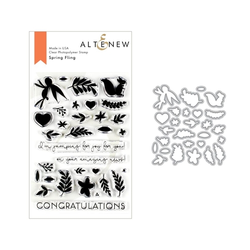 Altenew SPRING FLING Clear Stamp and Die Bundle ALT3217 Preview Image