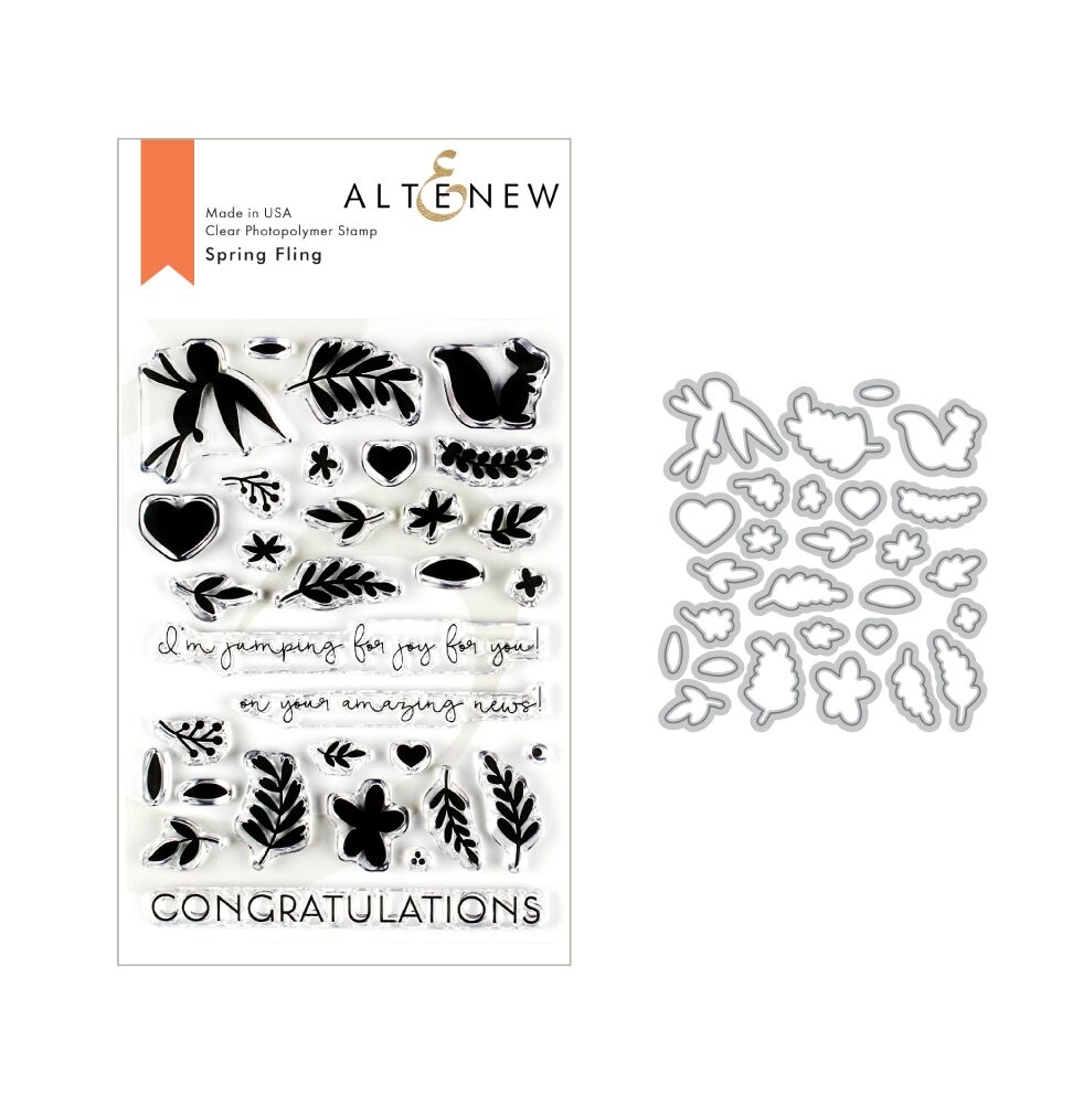 Altenew SPRING FLING Clear Stamp and Die Bundle ALT3217 zoom image