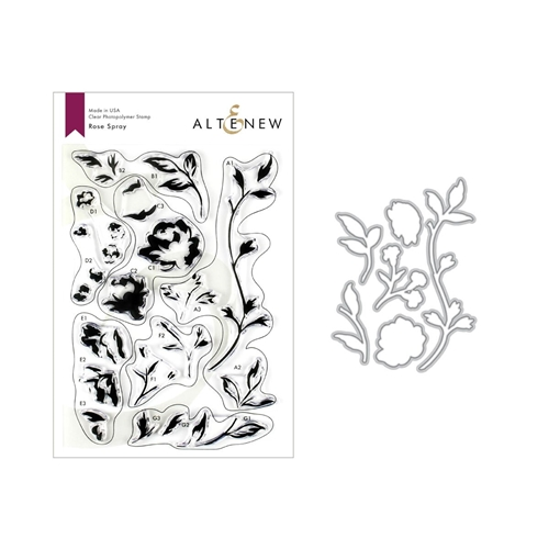 Altenew ROSE SPRAY Clear Stamp and Die Bundle ALT3214 Preview Image