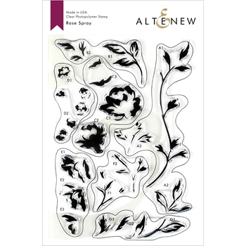Altenew ROSE SPRAY Clear Stamps ALT3212