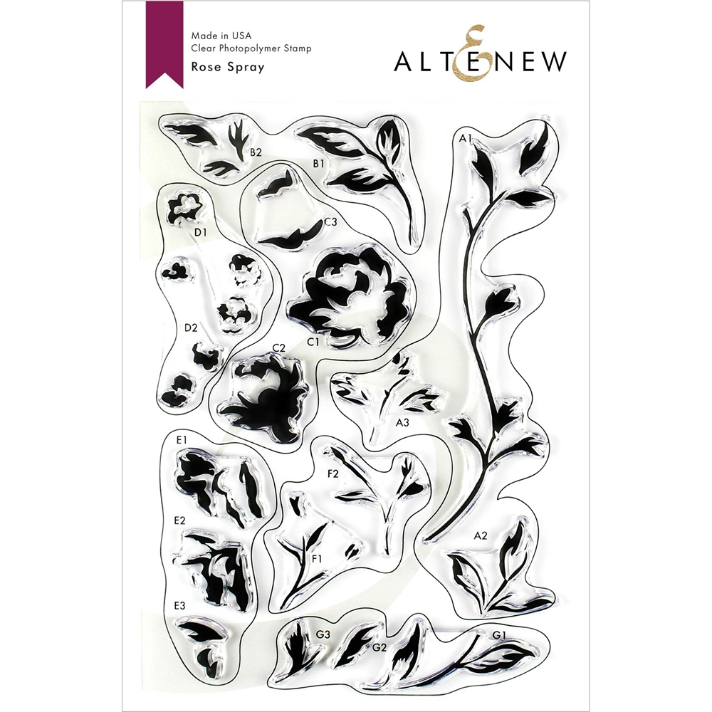 Altenew ROSE SPRAY Clear Stamps ALT3212 zoom image