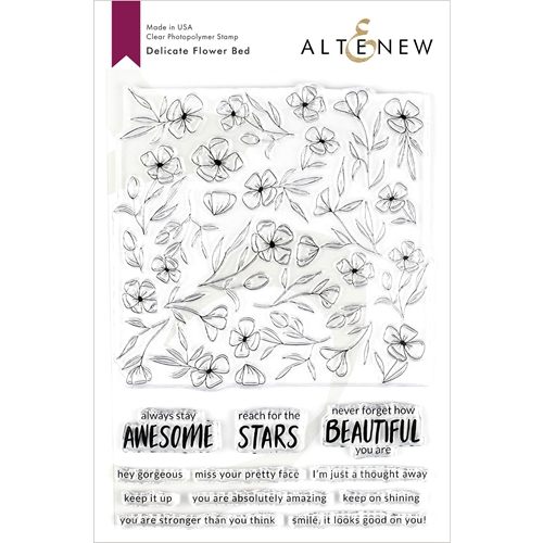 Altenew DELICATE FLOWER BED Clear Stamps ALT3210 Preview Image