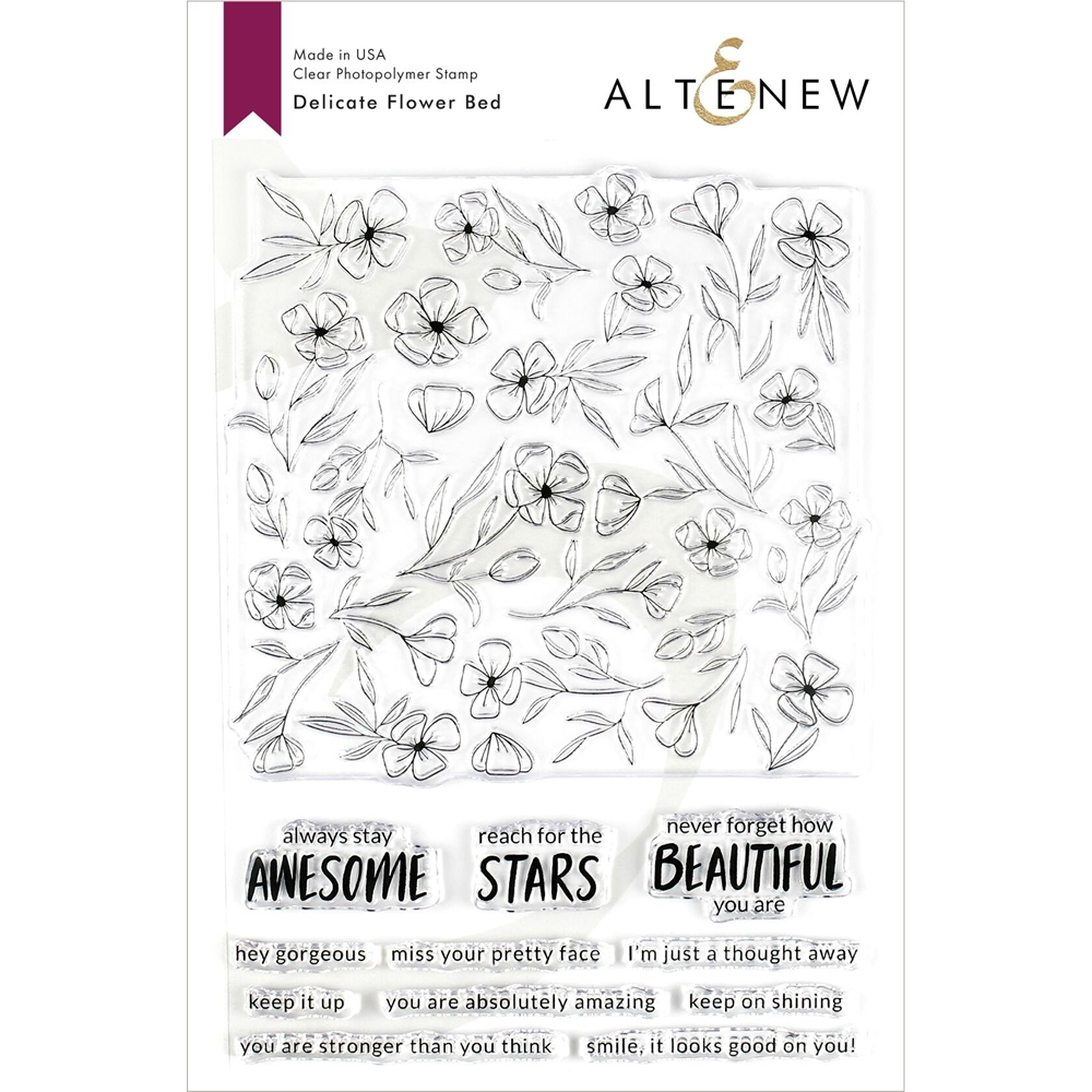 Altenew DELICATE FLOWER BED Clear Stamps ALT3210 zoom image