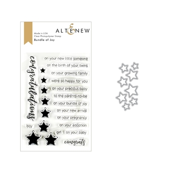 Altenew BUNDLE OF JOY Clear Stamp and Die Bundle ALT3209 *
