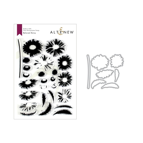 Altenew BELOVED DAISY Clear Stamp and Die Bundle ALT3205 Preview Image