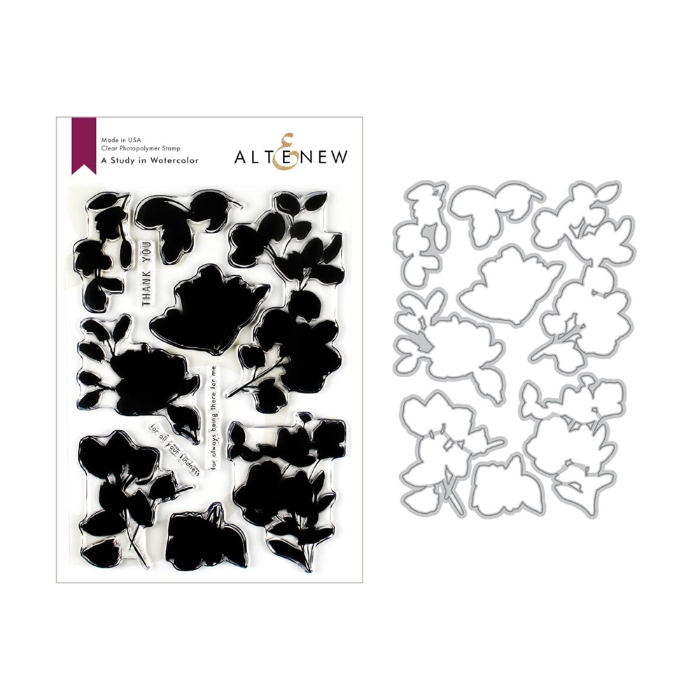 Altenew A STUDY IN WATERCOLOR Clear Stamp and Die Bundle ALT3200 zoom image