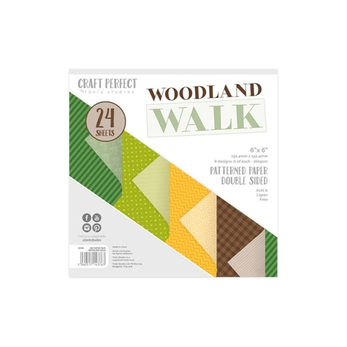 Tonic WOODLAND WALK Craft Perfect Luxury Embossed 6 x 6 Paper Pack 9376e Preview Image