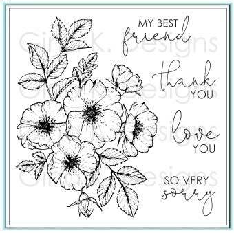 Gina K Designs WILD ROSES Clear Stamps 777