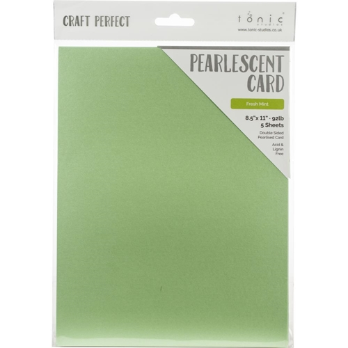 Tonic FRESH MINT Pearlescent Cardstock 9544e Preview Image