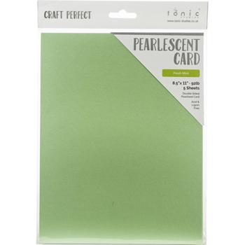 Tonic FRESH MINT Pearlescent Cardstock 9544e